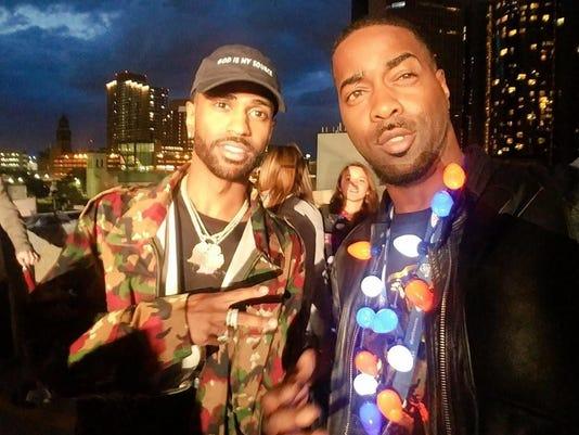 L-r, Rapper Big Sean with recording artist, Korey Nasa