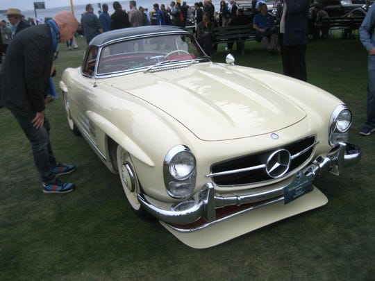 A descendant of the famous Gullwing SLs of the 1950s, this 1963 Mercedes-Benz 300SL, owned by Lucas Huni of Zurich, Switzerland, was among the most presentable in the unrestored or preservation classes of the concours.