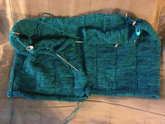 This is the Zephirine Cardigan at 13 inches, where