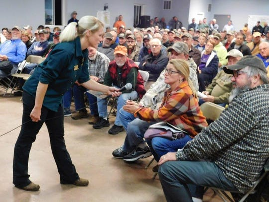 Some 350 deer hunters and landowners attended the chronic wasting disease meeting in Greenville on Oct. 25 to learn more about the fatal deer disease.