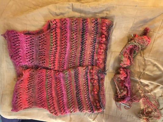 Mom's Noro sweater, update