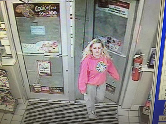 Chillicothe police released this photo, which apparently shows Shasta Himelrick, who has not been seen by family since Christmas night, walking into the Bridge Street Speedway gas station at about 3:15 a.m. Dec. 26.