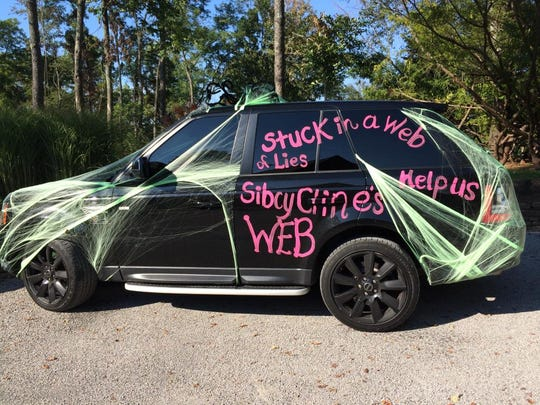 Crysta Pleatman decorated her car Sept. 18 to gain attention for her case against Sibcy Cline.