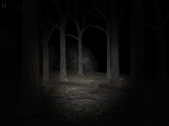 "A simple flashlight in a forest can invoke terror in those who've played any version of ""Slender."""