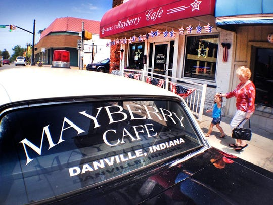 Danville, Ind., is home to the 'Andy Griffith Show'-themed Mayberry Cafe.