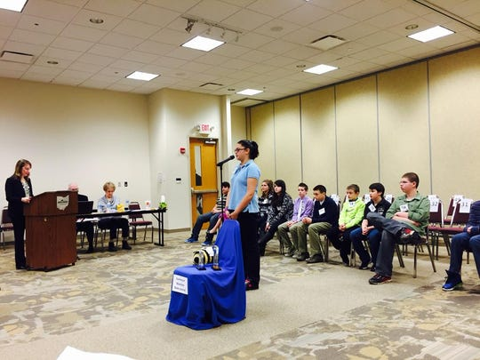 Spellers compete in the Richland County Spelling Bee.