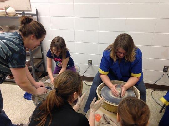 Granton School has been very busy working on ceramic