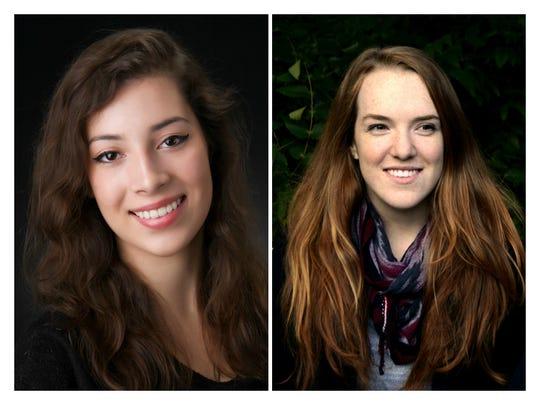 Bard College students Sarah McCausland, left, and Evelina Brown