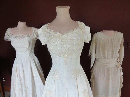 Dresses from 1958, 1956 and 1922, along with the bride's portrait and a wedding story, will be featured at the event.
