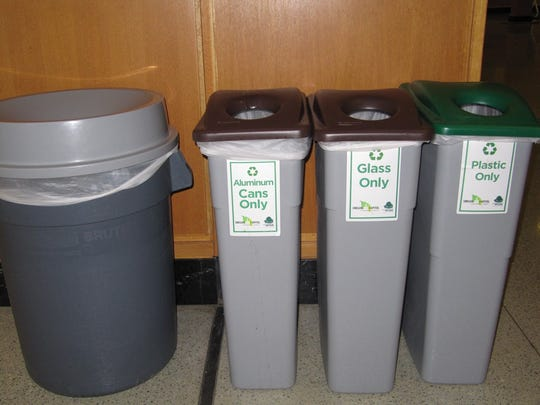 Always next to a trash container, recycling stations offer staff and visitors a recycling option.