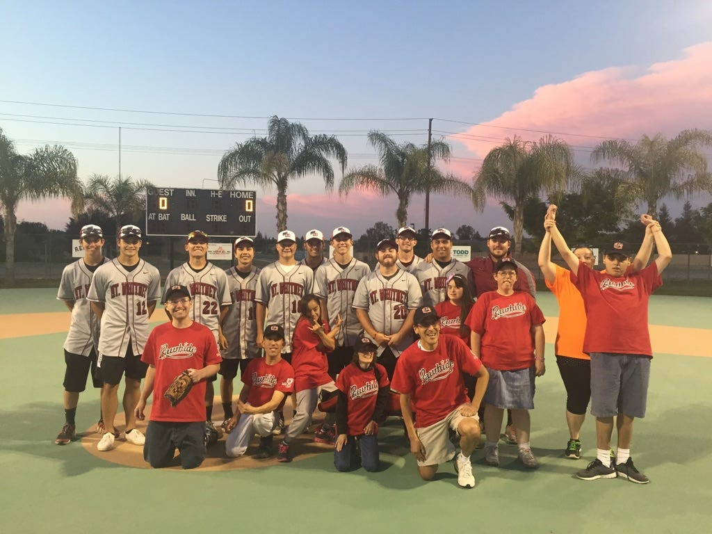 The Mt. Whitney baseball program helped out with Visalia's Miracle League on April 18.