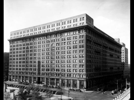 The DuPont Building between 1930 and 1950.