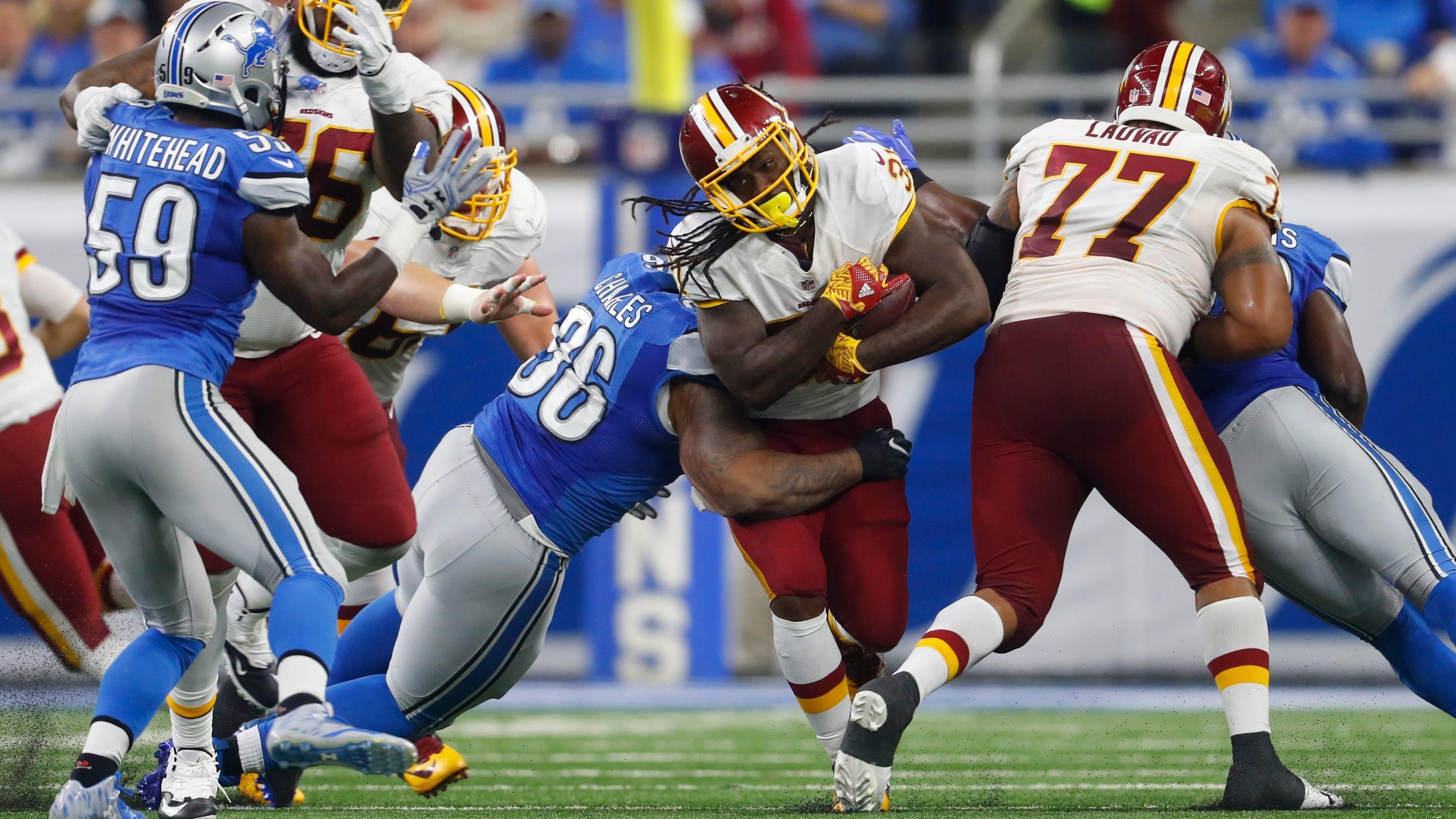 Redskins RB Matt Jones misses practice with knee injury