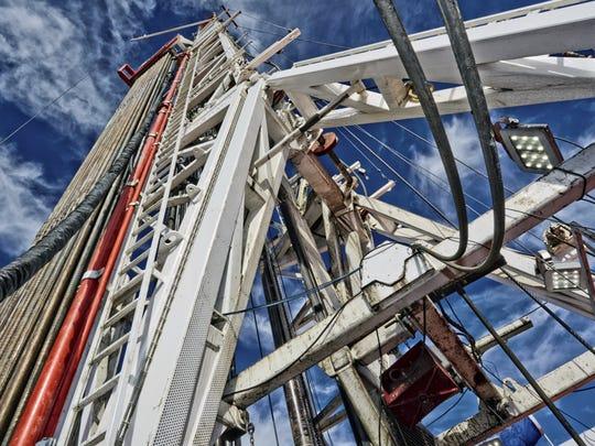 File art of a fracking rig.