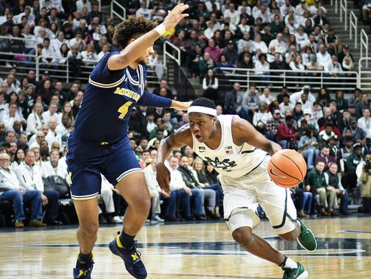 MSU's Cassius Winston would be the first pick if you were to pick a starting 5 between MSU and Michigan. Isaiah Livers would be ion the edge of the rotation.