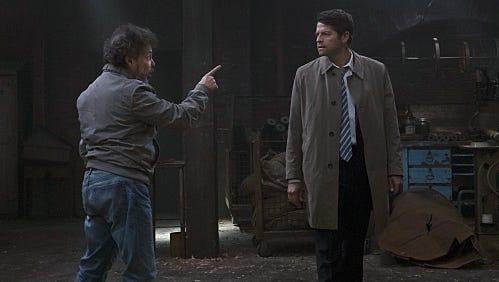 "Castiel and Metatron in ""Supernatural"""
