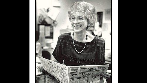 My journalism professor at Glendale Community College, Gerri Fiedler.