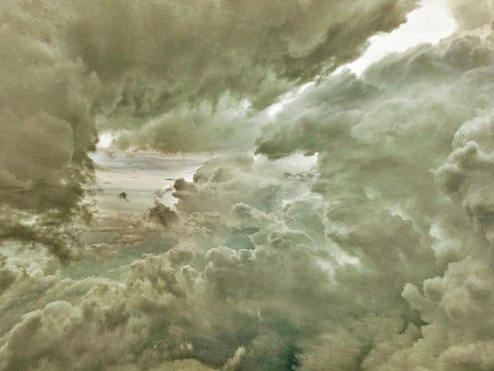 "Catherine Erb, ""Cloud Study 10 (L),"" 2016, mixed media"