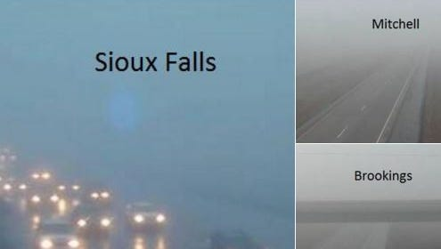 www.SafeTravelUSA.com/sd shows thick fog mid-morning Monday.