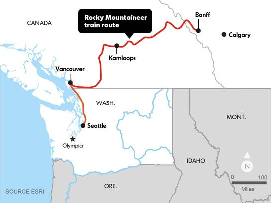 Rocky Mountaineer train route