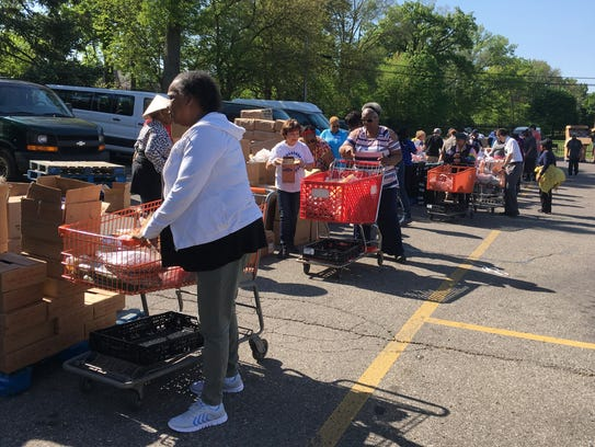 Project Healthy Community's monthly mobile food pantry