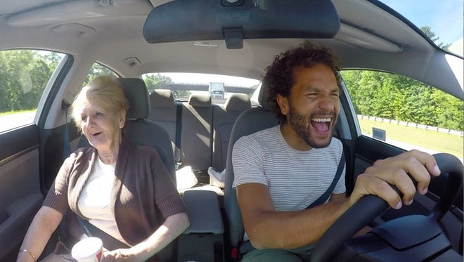 Sian-Pierre and his mother, Rebecca, on their bucket list adventure.