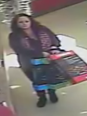 Sparks police seek two suspects that allegedly stole merchandise from a Quik Stop.