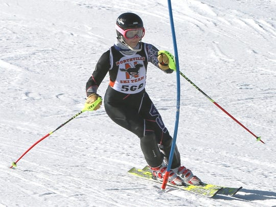 Northville's Kat Gruschow took 15th in the slalom in the KLAA meet Feb. 13 at Mt. Brighton.