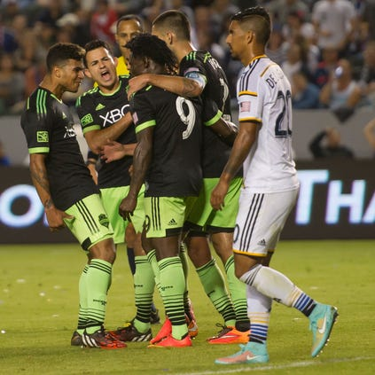 Oct 19, 2014; Carson, CA, USA; Seattle Sounders FC