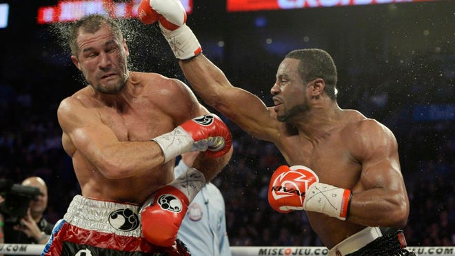 Jean Pascal was stopped by Sergey Kovalev in March but could secure a rematch yet. (Eric Bolte-USA TODAY Sports)