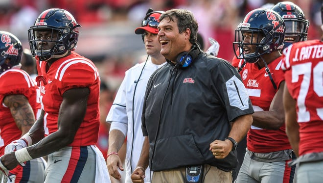 Matt Luke picked up his first SEC win as a head coach with a victory over Vanderbilt Saturday.