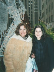 Jessica with her mother at Rockefeller Center in New York City.
