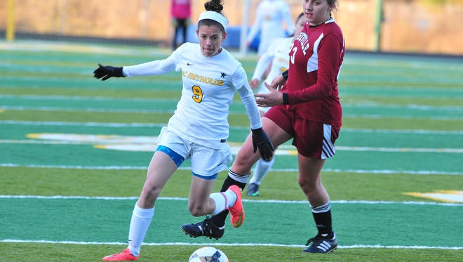 Reynolds senior Ellie Montes (9) has committed to play soccer for Salem College.