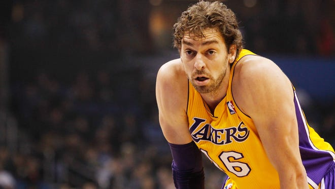 Los Angeles Lakers center Pau Gasol has been mentioned in trade rumors with the Phoenix Suns.