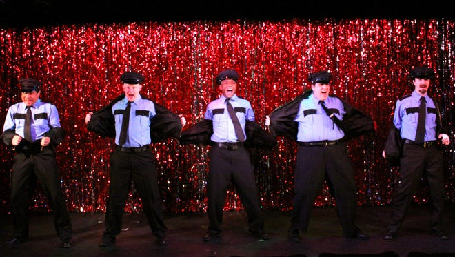 A scene from the production of 'The Full Monty.'
