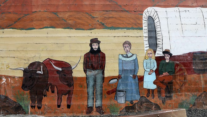 A mural on a building in Pendleton.