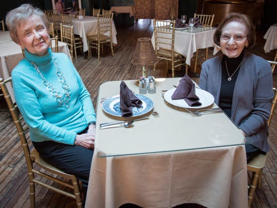 Judy Schall and Joan Smith sit inside Vera Mae's Bistro