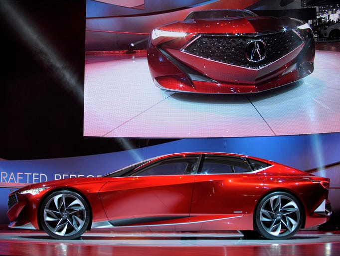 The Acura Precision Concept  rolls out during the automaker's