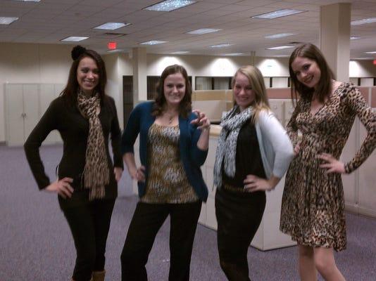 The Cheetah Girls, from left: Lauren Raton, Sarah Schaffstall, Megan Sinton and Sara Spencer