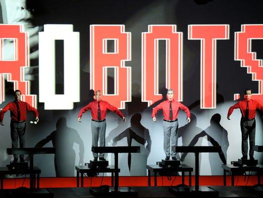 Kraftwerk performs during the 2016 Movement Electronic