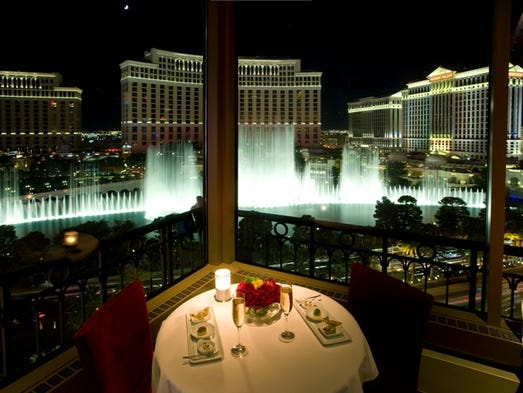 Eiffel Tower Restaurant offers views of the Strip from