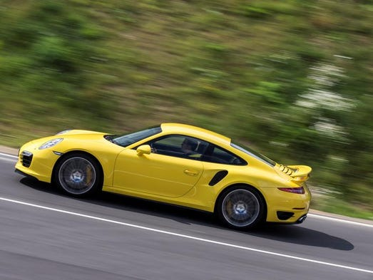 The Porsche 911 Turbo S is a 560-horsepower twin-turbo. Boxer six-cylinder engine and AWD enable 0-60 mph in 2.9 seconds and 197 mph top speed — making 17/24 mpg city/hwy seem frugal, according to automotive journalist Casey Williams. A $182,700 base price and iconic shape are for the CEO who always goes first class with top-shelf bourbon.
