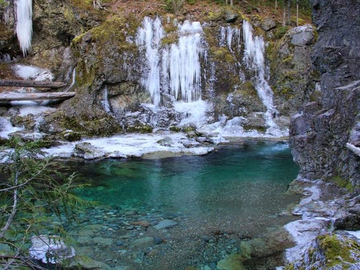 A view of the Little North Santiam's Three Pools area just off the Little North Santiam Trail on Dec. 11, 2013.