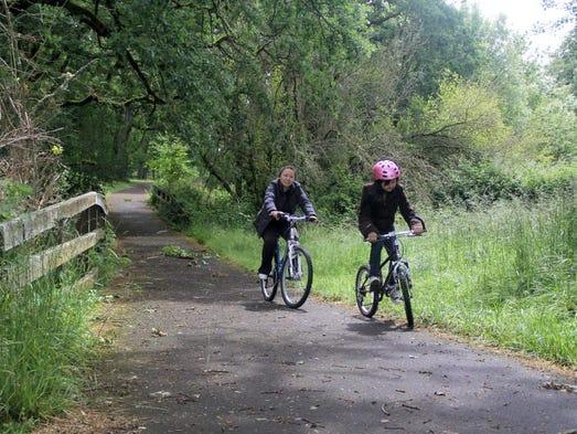 Best family-friendly bike rides near Salem. No. 1 — Champoeg State Heritage Area.