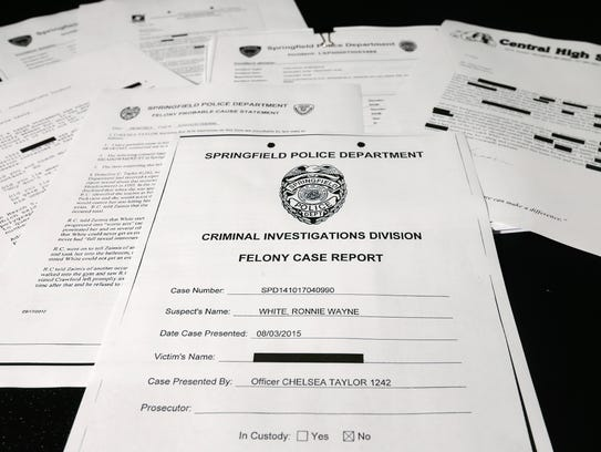 Documents in the Ronnie White case.