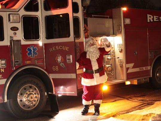 Santa Delivers Presents