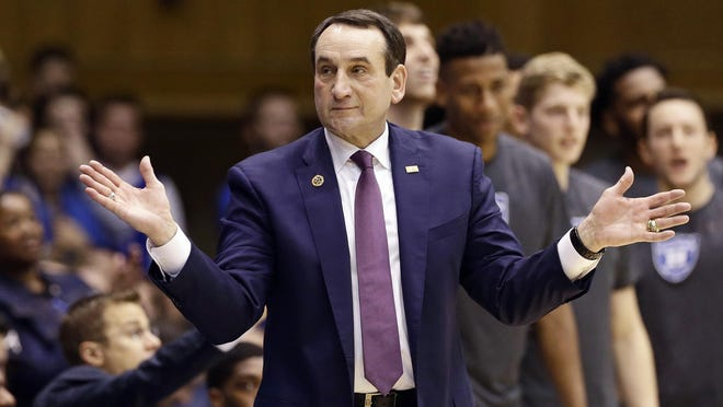 Duke basketball coach Mike Krzyzewski is scheduled for back surgery Friday, with an anticipated recovery time of four weeks.