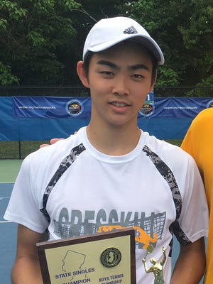 Cresskill's Chikaya Sato after placing second in the NJ state finals.