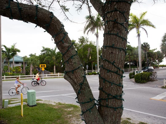 The view from the corner of Vanderbilt Beach Road and Gulf Shore Drive looking towards Vanderbilt beach access Tuesday, May 16, 2017 in Naples.