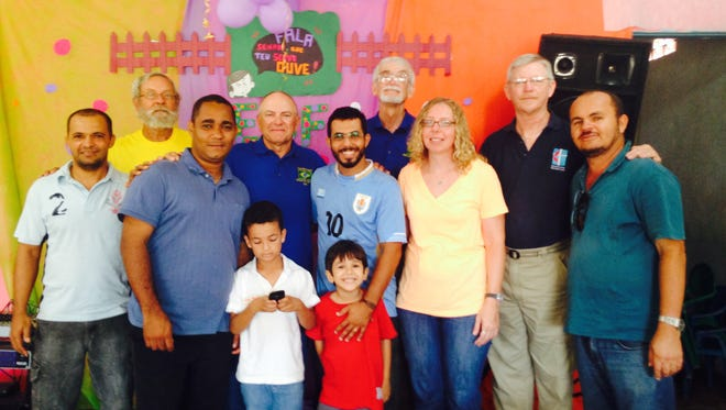 Bob Woody (second back from left) of rural Crawfordsville has helped build churches in Brazil as part of a Methodist mission trip six times since 1993. But this summer, the Zika virus has altered his plans.
